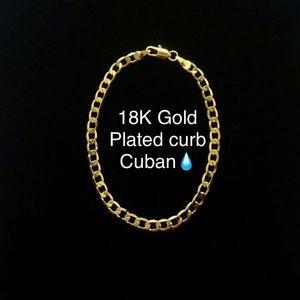18k Gold Plated Curb Cuban Bracelet